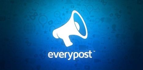 Publier sur tous les réseaux sociaux à la fois via mobile à l'aide de Everypost | Anytime, Anywhere, Any device | Scoop.it