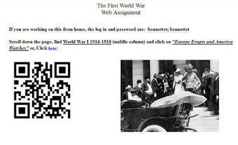 World History Teachers Blog: WWI Webquest, e-book, QR codes | Materiale educationale | Scoop.it