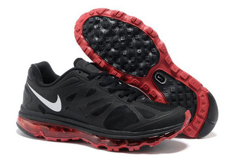 Mens Nike Air Max 2012 BlackWhite-Sport Red Running Shoe | my love list | Scoop.it