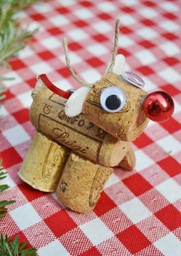 Wine Cork Reindeer | Craftspo | Scoop.it