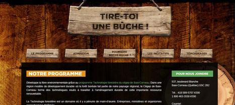 Cegep de Baie-Comeau - Relance du programme de Technologie forestière - Le Cégep de Baie-Comeau lance tiretoiunebuche.ca   Promote_Innovation   Scoop.it