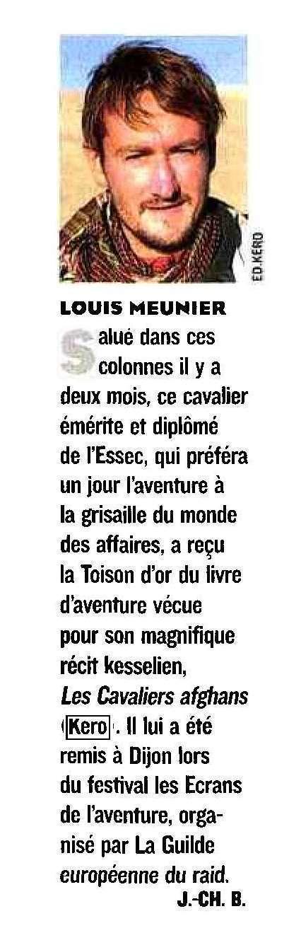 """Le Figaro Magazine - """"Louis Meunier reçoit La Toison d'or du livre d'aventure""""   Louis Meunier   Scoop.it"""