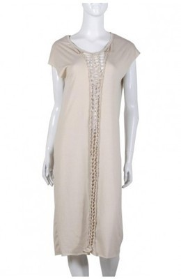Braided Long Dress - Beige - Dresses - Clothing - WOMEN | Indie Clothes & Accessories | The Urban Apparel | Scoop.it