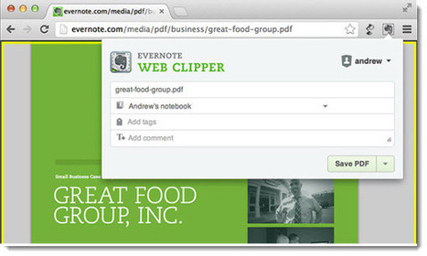 Evernote Web Clipper para Chrome ya permite capturar y guardar PDF | Las TIC y la Educación | Scoop.it