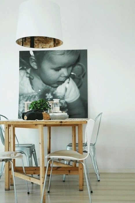 Une salle à manger nordique en noir et blanc | | décoration & déco | Scoop.it
