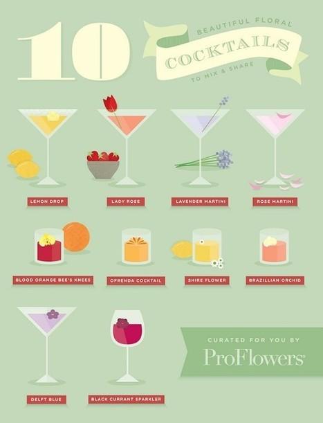 Our Top 10 Favorite Floral Cocktail Recipes | Lifestyle | Scoop.it