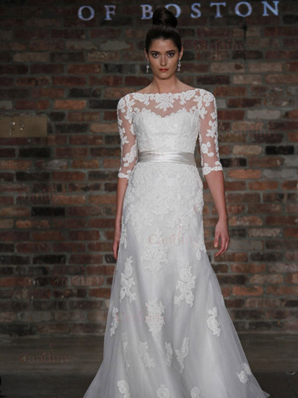 fabulous lace delicate designer mermiad sweep / brush length wedding dresses uk at wholesale price - £167.88 : Craibox.com | Wedding mood board | Scoop.it