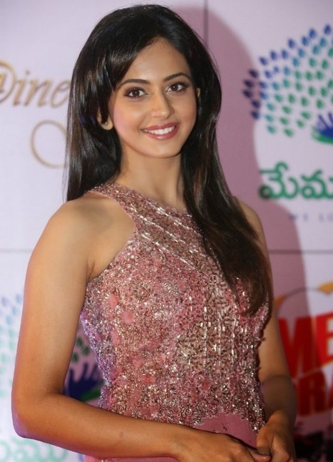 Stylish Indian Girl Rakul Preet Singh in Pink Floral Designer Long Gown Dress, Actress, Bollywood, Indian Fashion, Western Dresses | CHICS & FASHION | Scoop.it