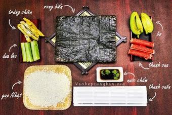 Cách làm sushi đơn giản tại nhà - Vào Bếp Cùng Bạn | Cho thuê xe cưới tại Hà Nội giá rẻ | Scoop.it