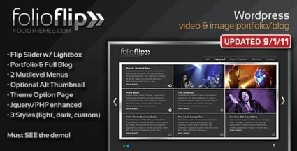 FolioFlip – Portfolio Blog Theme | Premium Wordpress Themes | Scoop.it