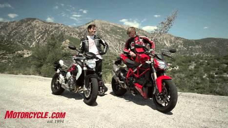 2013 MV Agusta Brutale 800 vs Ducati 848 Streetfigher - YouTube   Best Motors Video   Scoop.it