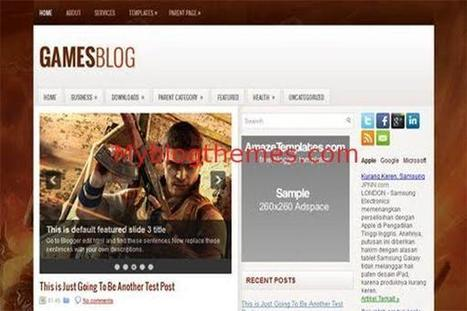 Brown Games Blogger Theme Template Download | Blogger themes | Scoop.it