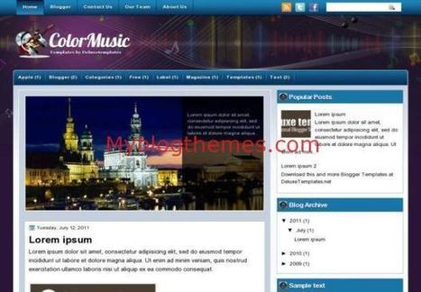 Blue Colorful Music Blogger Theme Free Download | Blogger themes | Scoop.it