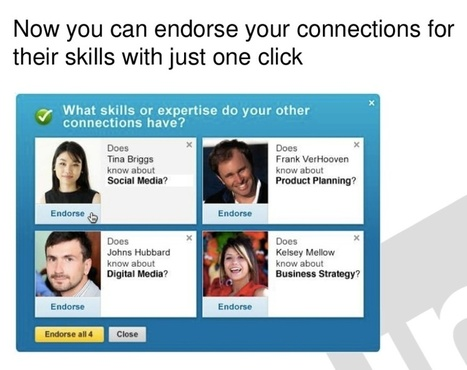Networked or Just Worked?  LinkedIn's Shiny, New Endorsements Buttons | The Social Media Learning Lab | Scoop.it
