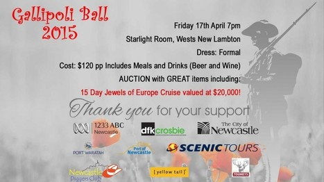 Join the Gallipoli Ball for a Worthy Cause - Welcome to Newcastle Diggers Club and Steven's Asian Kitchen | Newcastle Diggers | Scoop.it