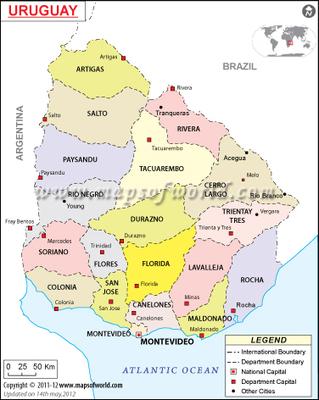 Uruguay Map | Uruguay, Stephen Nail | Scoop.it