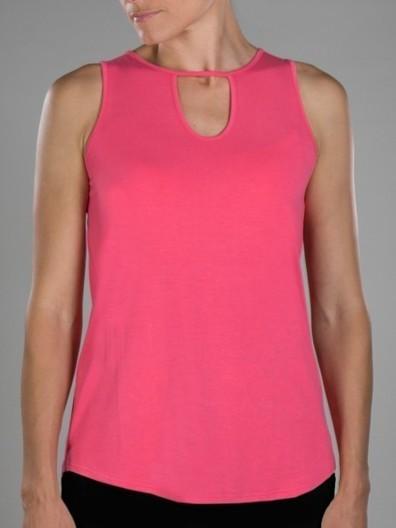 JoFit Ladies & Plus Size Keyhole Sleeveless Lifestyle Tank Tops - Cabernet (Sherbet) | Everything Golf | Scoop.it