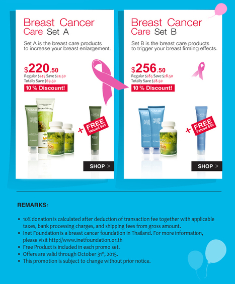 Stherb Breast Cancer Care Promotion 2015 | CosmoBotanica | Cosmobotanica Stherb Melanosome Nano Lightening complex | Scoop.it