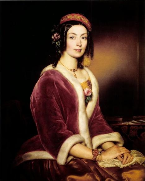 Arte XIX: Mujer con una pelliza de terciopelo   El Arte del siglo XIX   Scoop.it