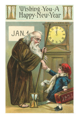 Happy New Year, Old Man Time and Child Prints at AllPosters.com | Soceity & Culture | Scoop.it
