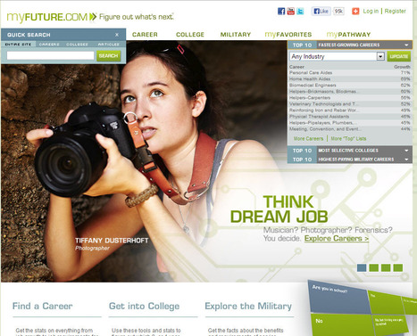 MyFuture.com - Figure Out What's Next | High School College & Career Readiness Tools | Scoop.it