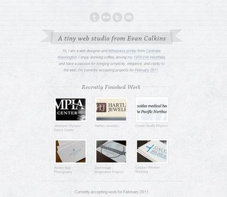 30 Beautifully Simple Websites | Sridhar's Interesting Websites & Social Media Sites | Scoop.it