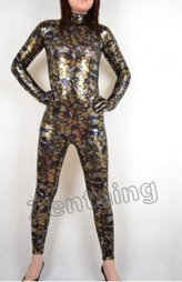 Yellow Fish Scale Shiny Metallic Catsuit [C20292] - $46.00 : Shop Zentai Suits Full Bodysuits And Catsuits From Zentaing.com | zentai catsuit lycra | Scoop.it