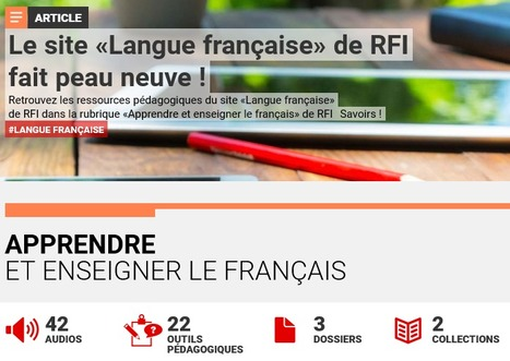 Apprendre et enseigner le français - RFI lance RFI SAVOIRS | ENT | Scoop.it