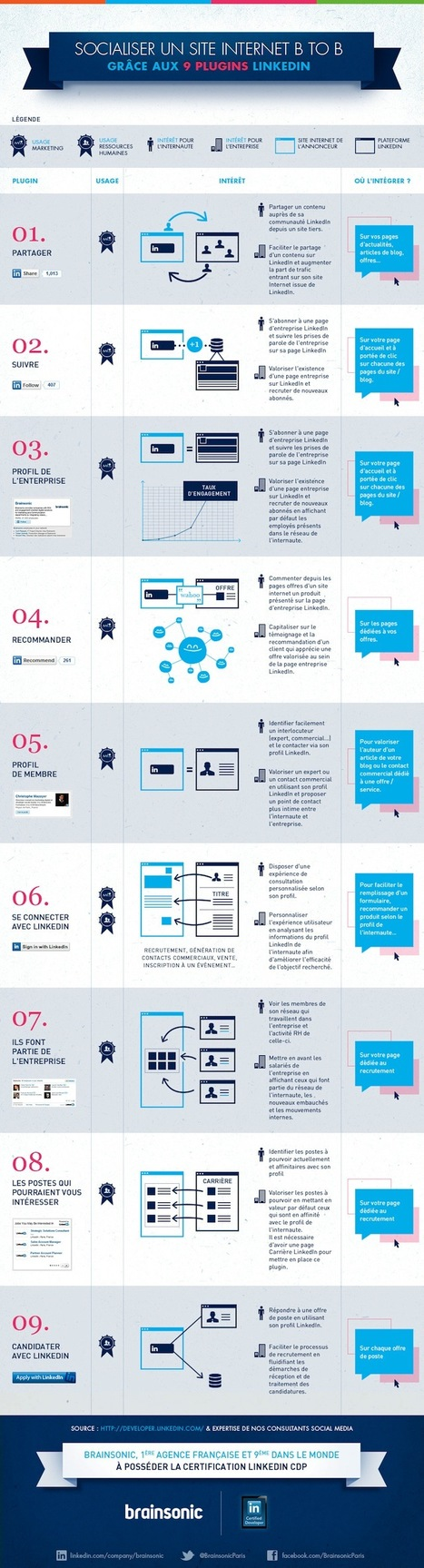 [Infographie] 9 plugins LinkedIn pour socialiser un site BtoB | VeilleInfographie | Scoop.it