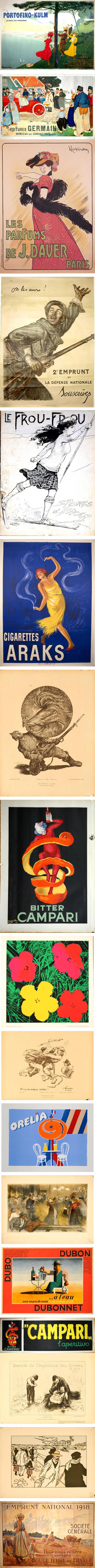 Graphisme & interactivité blog par Geoffrey Dorne » 4000 anciennes affiches à télécharger ! (Lido, Moulin Rouge, Dior, Campari, Michelin, Perrier, Vuitton, Air France…) | fle&didaktike | Scoop.it