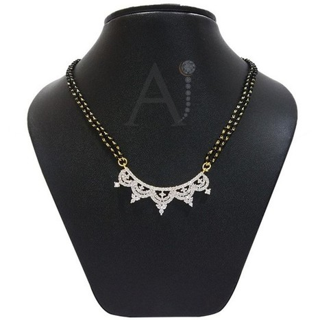 Divine Mangalsutra set | American Diamond Jewellery | Scoop.it