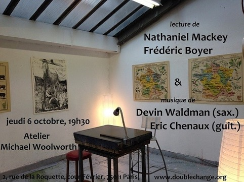 (agenda) 6 octobre, Paris, Nathaniel Mackey & Frédéric Boyer | Poezibao | Scoop.it
