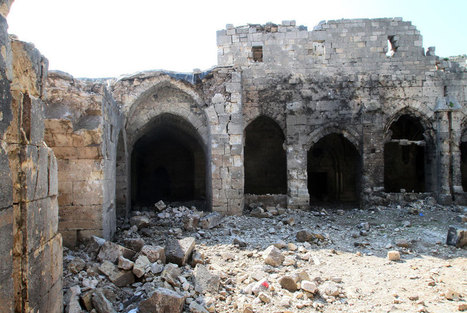 Famed Syria Crusader castle survives fierce battles; Damage is inside, in the lower courtyard | News in Conservation | Scoop.it