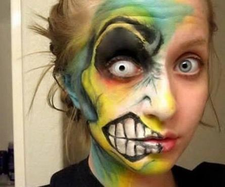 Twitter / UntouchDesigns: Halloween make up... just for ... | Halloween Makeup | Scoop.it