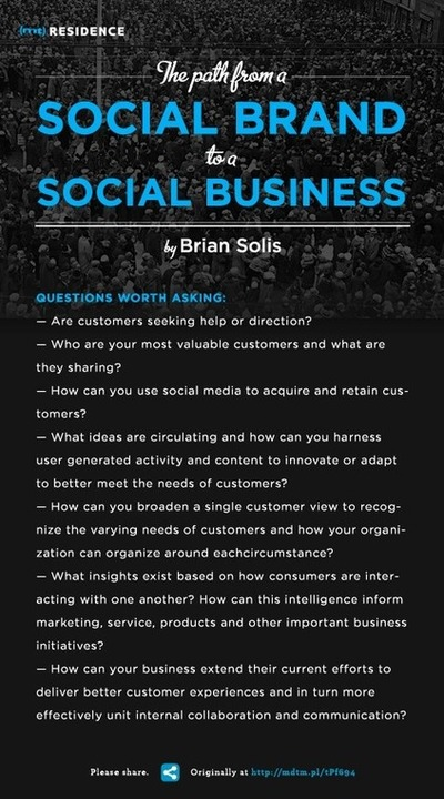 The Path from a Social Brand to a Social Business - Brian Solis | Beyond Web and Marketing 3.0 | Scoop.it