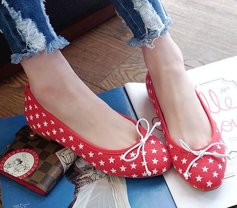 Wholesale Fashion flats with bowknot & rubber sole comfortable shoes XXD-FD338-9 red - Lovely Fashion | Online Fashion | Scoop.it