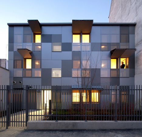 RMDM architects: social housing in paris - 10 very high performance apartments | 360° design | Scoop.it