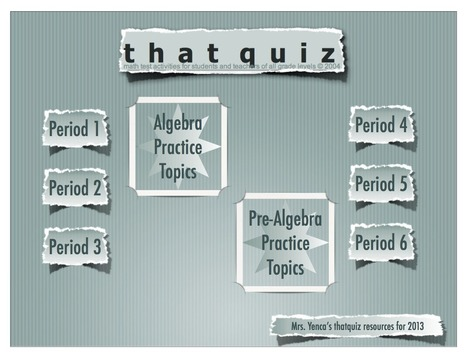 Thatquiz.org: A Great (iPad-Friendly) Freebie for Skill Practice & Formative Assessment | MathyCathy's Blog – Mrs. Cathy Yenca | Tech Tuesdays | Scoop.it