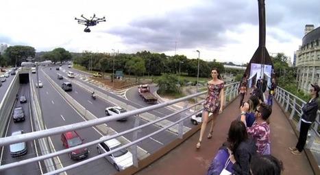 Fiat organise un défilé de mode sur une passerelle d'autoroute | streetmarketing | Scoop.it