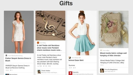Pinterest's New Gifts Feed Targets Shoppers - SiteProNews | Pinterest | Scoop.it