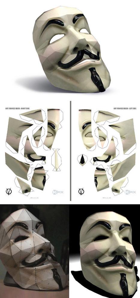 Fabriquez votre masque d'anonymous | GRAPHISME | Scoop.it