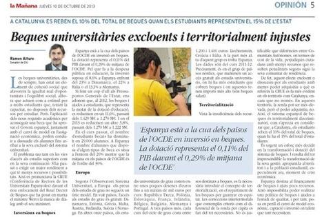 Twitter / oi_ciulleida: Article del Senador @ramonalturo ... | LES NOTÍCIES DE CiU SENAT | Scoop.it