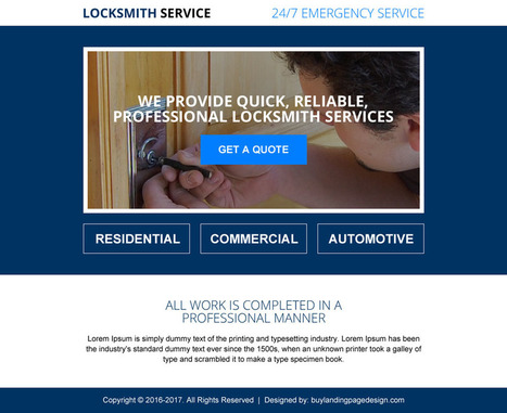 Locksmith Ppv Landing Page Design For Locksmith Business Sales | BuyLPDesign Blog | best landing page design | Scoop.it