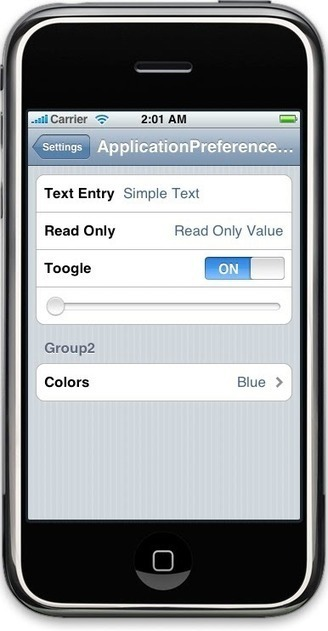Application Preferences | iPhone SDK Articles | Mobile Technology | Scoop.it