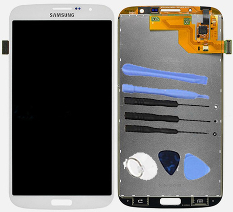 White LCD Digitizer Assembly For Samsung Galaxy Mega 6.3 i527 i9200 i9205 +8 Tools Kit | newest phone accessories | Scoop.it