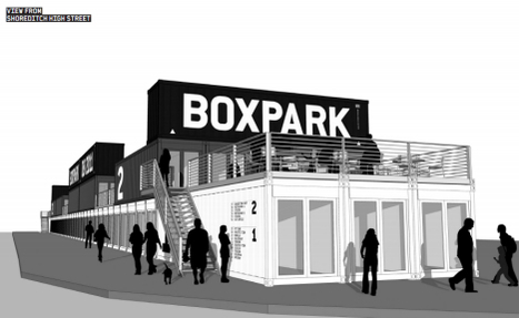 Shipping Containers Turned Into Shopping Mall in London's BoxPark | sustainable architecture | Scoop.it