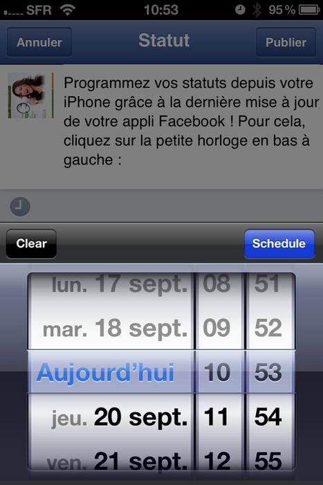 Facebook : vous pouvez désormais programmer vos messages sur votre téléphone portable | Les Outils du Community Management | Scoop.it