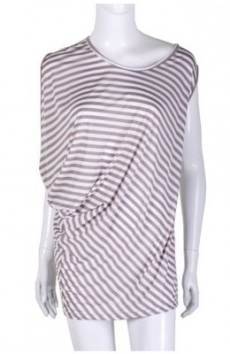 Asymmetric Stripe Tunic Dress - Grey - Dresses - Clothing - WOMEN | Indie Clothes & Accessories | The Urban Apparel | Scoop.it