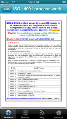 ISO Documentation – An iPhone App Launched by Global Manager Group | RC 14001 Certification Documents | Scoop.it