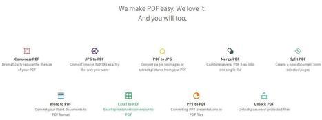 Une boîte à outils PDF en ligne, SmallPDF | Les Infos de Ballajack | outils numériques pour la pédagogie | Scoop.it